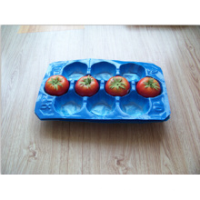 100% Food Grade PP Matt Surface 41.9X33cm 10lb Canada Importing Plastic Blister Black Tomato Packaging Tray